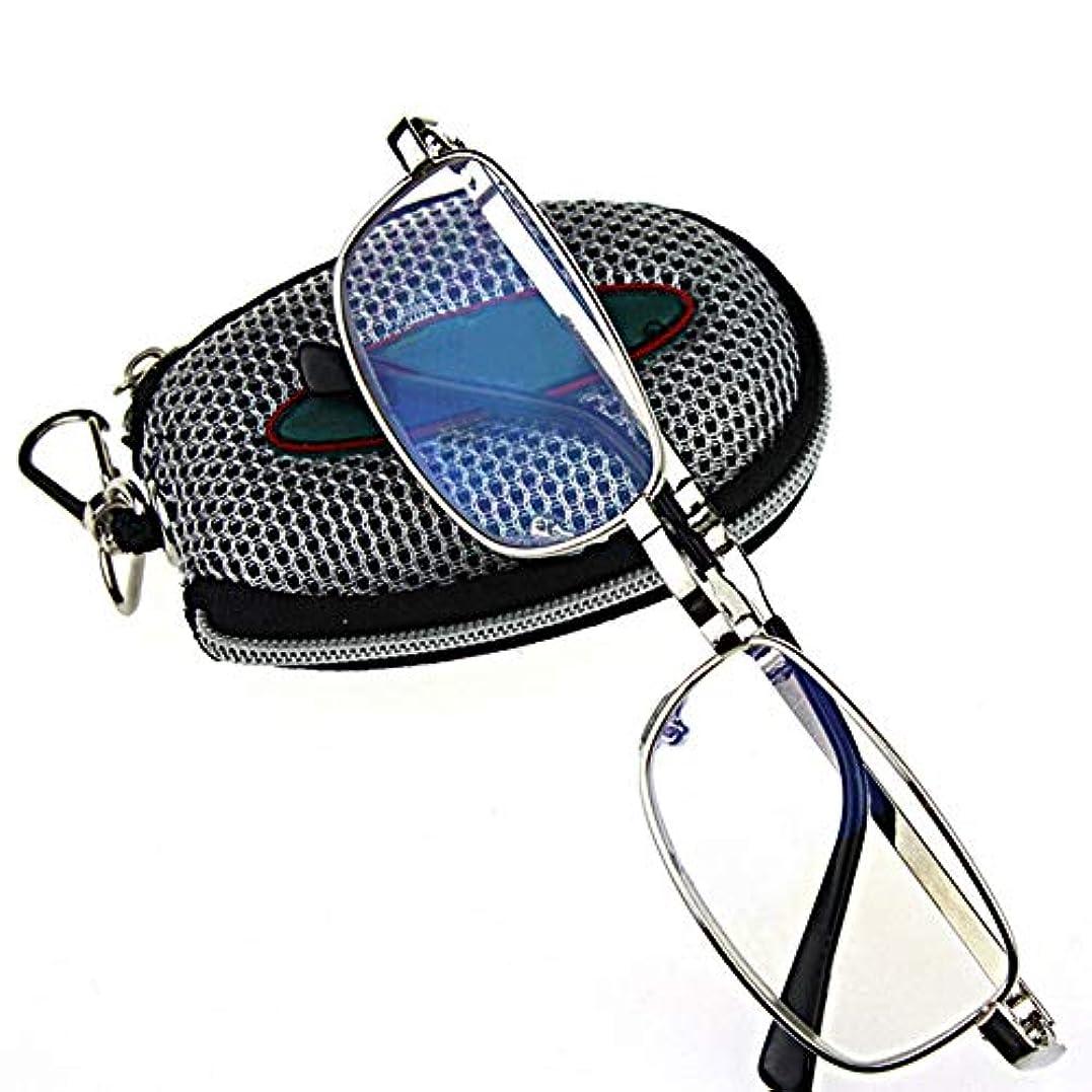 ACHICOO 老眼鏡 メガネ 折りたたみ メガネ フレームキー ホルダー メガネバッグ 250