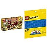 レゴ(LEGO) クリエイター 伝説の生き物 31073 & クラシック 基礎板(ブルー) 10714