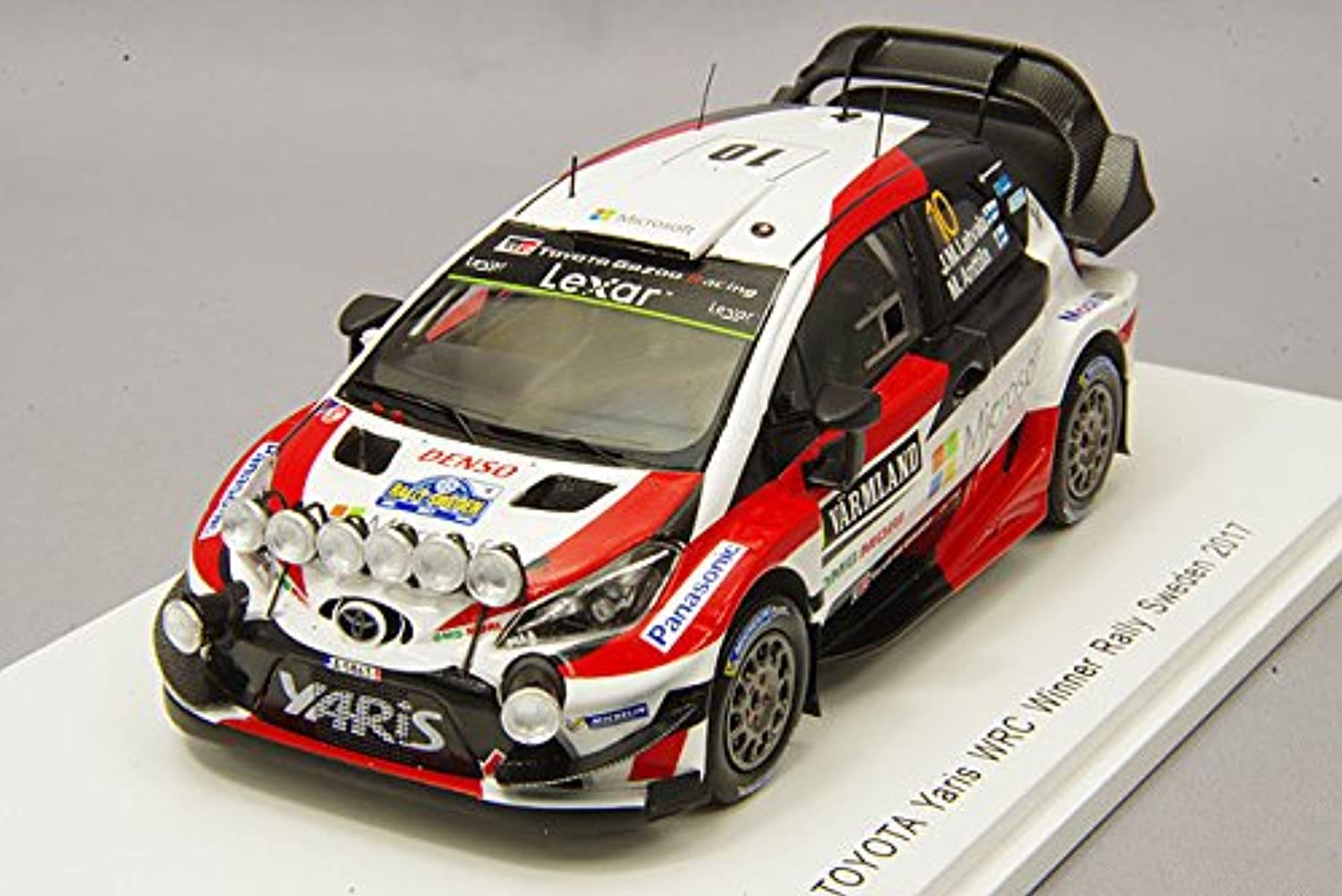 1/43 トヨタ ヤリス WRC No.10 Winner Rally Sweden 2017 J.-M.Latvala-M.Anttila