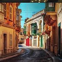 Bzbhart テレビの背景装飾画、壁用ステッカーヨーロッパの街の通りの壁紙自然風景写真壁の壁画リビングルームベッドルームテレビの背景壁紙家の装飾-120cmx100cm