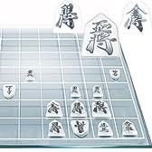 ・将棋 セット 盤 駒 将棋盤セット 将棋世界 クリスタルグラス将棋 ガラス製フルセット将棋 シルバー