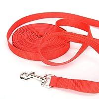 FidgetGear ペットの犬の鎖長服従足の足のトレーニングロープ安全ベルトテザー1.8-9 M 赤