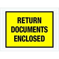 Ship Now Supply SNPL448 Return Documents Enclosed Envelopes 7 1/2 x 5 1/2 5width 7.5 Length Yellow (Pack of 1000) [並行輸入品]