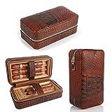 LAGUTE シガレットケース ポータブル コンパクト ボックス 保湿 ギフト プレゼント 木質 6本まで 収納可能 旅行用 自宅用 上品 ブラウン