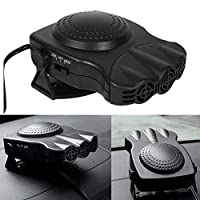 車のデフロスタポータブル、車の暖房のためのシガーライター車のヒーター12 vに差し込む車デフォッガー(黒) …