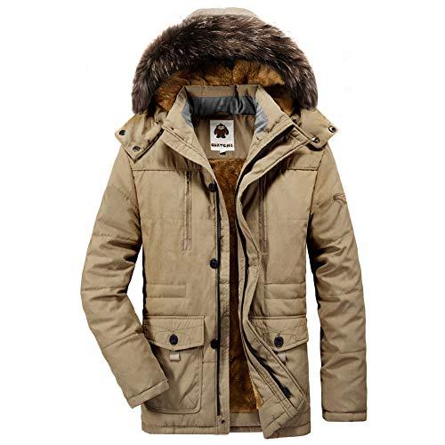 モッズコート メンズ アウター 中綿 ダウンジャケット 大きいサイズ コート 防寒 防風 厚手 アウトドア ファー付き 冬服