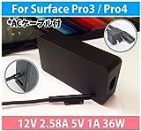 VISPREA® Microsoft Surface Pro3 / Pro4 用 12V 2.58A 5V 1A 36W 電源ACアダプター 充電器 代替ACアダプター 電源ACアダプタ パワーサプライ 電源アダプタ 互換電源(36)