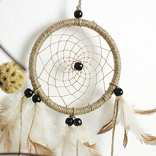 Funnytoday365 Indian Style Handmade Dream Catcher Net with Feathers Hanging Decoration Craft Gift for Home Decoration Ornament Craft Gift