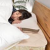 なかね家具 京都西川 枕 洗える 安眠 ふんわりタッチの粒綿使用 クッション性 快眠 37x55 ベージュ pl_7500