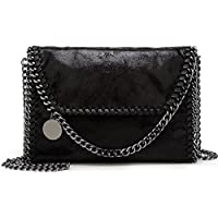 Donalworld Women Chain Paillette Casual Tote PU Leather Shoulder Bag Purse