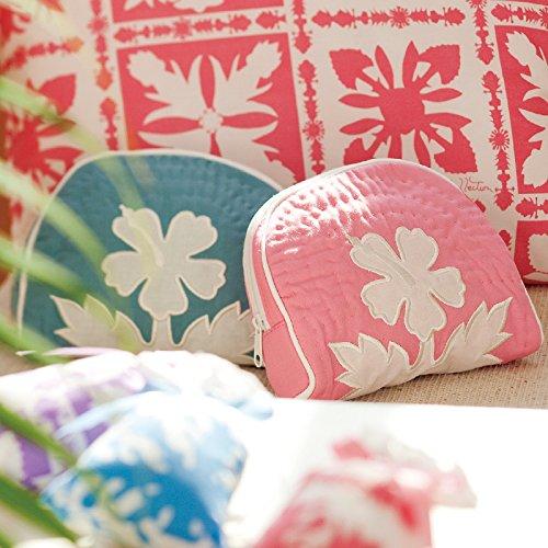 ハワイ 土産 ハワイアンキルト柄 ポーチ 2色セット (海外旅行 ハワイ お土産)