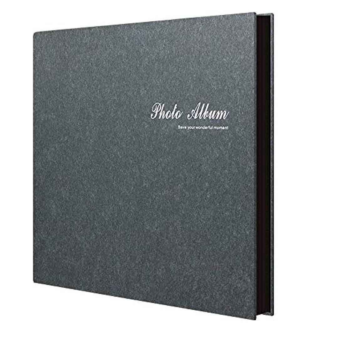 高く緑疑いアルバム写真、特大容量の革カバー結婚式の家族写真アルバムには、ページ付きの水平および垂直の写真が入ります (Color : 黒)