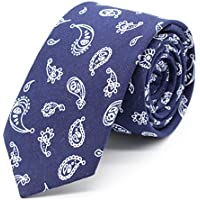 VE Polyester Necktie Printed Pattern Slim Narrow Tie With Gift Box Handmade Casual Style For Men