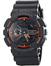 カシオ Gショック CASIO G-SHOCK 腕時計 GA-110TS-1A4DR マットグレー/オレンジ ネオンカラー 海外モデル 並行輸入品 [時計]