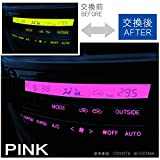 インプレッサ GC8# エアコンパネル エアコンランプ LED ランプ パネル球 交換 ルームランプ 内装 イルミネーション ピンク