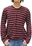 (ノータベネ) NOTA BENE Tシャツ メンズ ニットソー ヘンリーネック Tシャツソー 裏起毛 長袖 Tシャツ 3color LL ワイン
