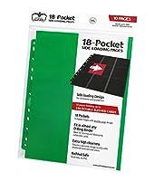 究極ガード18-pocketページside-loadingグリーン( 10)カードバインダーシート
