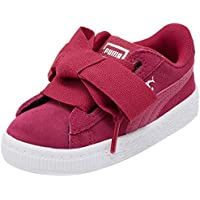 PUMA Infants Suede Heart Snk Inf, Love Potion, Sneakers