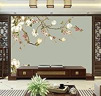 Hanhantang 大古典的な花と鳥の壁画テレビの背景の壁紙シンプルなリビングルームの寝室の不織布壁紙-120X100Cm