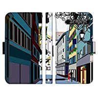 AQUOS XX2 mini 503SH ケース [デザイン:1.ゆったり散歩小路/マグネットハンドあり] 世界の絶景 巻田喜昭 adbox 手帳型 スマホケース カバー アクオス Softbank ソフトバンク 503sh