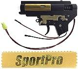 DBOYS製 BI15R 電動ハンドガン M4 M16用 メカボックスセット メタル製 - ブラック 【SportPro クリーニングクロス付】