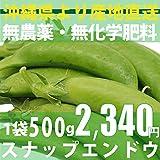 無農薬・無化学肥料 スナップエンドウ 500g