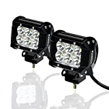 KAWELL 2個セット CREE製 18W LED ワークライト 作業灯 led 6発 12V/24V兼用 狭角タイプ 防水 LED ワークライト 1年保証