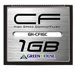 グリーンハウス 70倍速(10MB/s)スタンダードコンパクトフラッシュ 1GB GH-CF1GC
