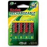 Kodak Rechargeable Ni-mH AA 4 Pack Batteries, (30819887)