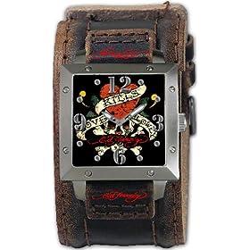 Ed Hardy (エド・ハーディー) 腕時計 WARRIORI MEN'S BLACK クォーツ WA-LK メンズ