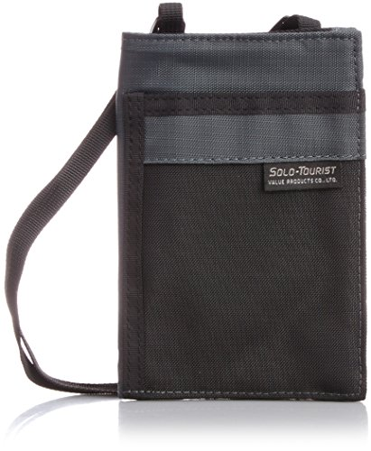 [ソロ・ツーリスト] パスポートポーチ15 グレー 16.5 cm PP-15