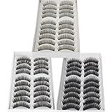 30 Pairs of Natural & Regular Long False Eyelashes Eye Lashes