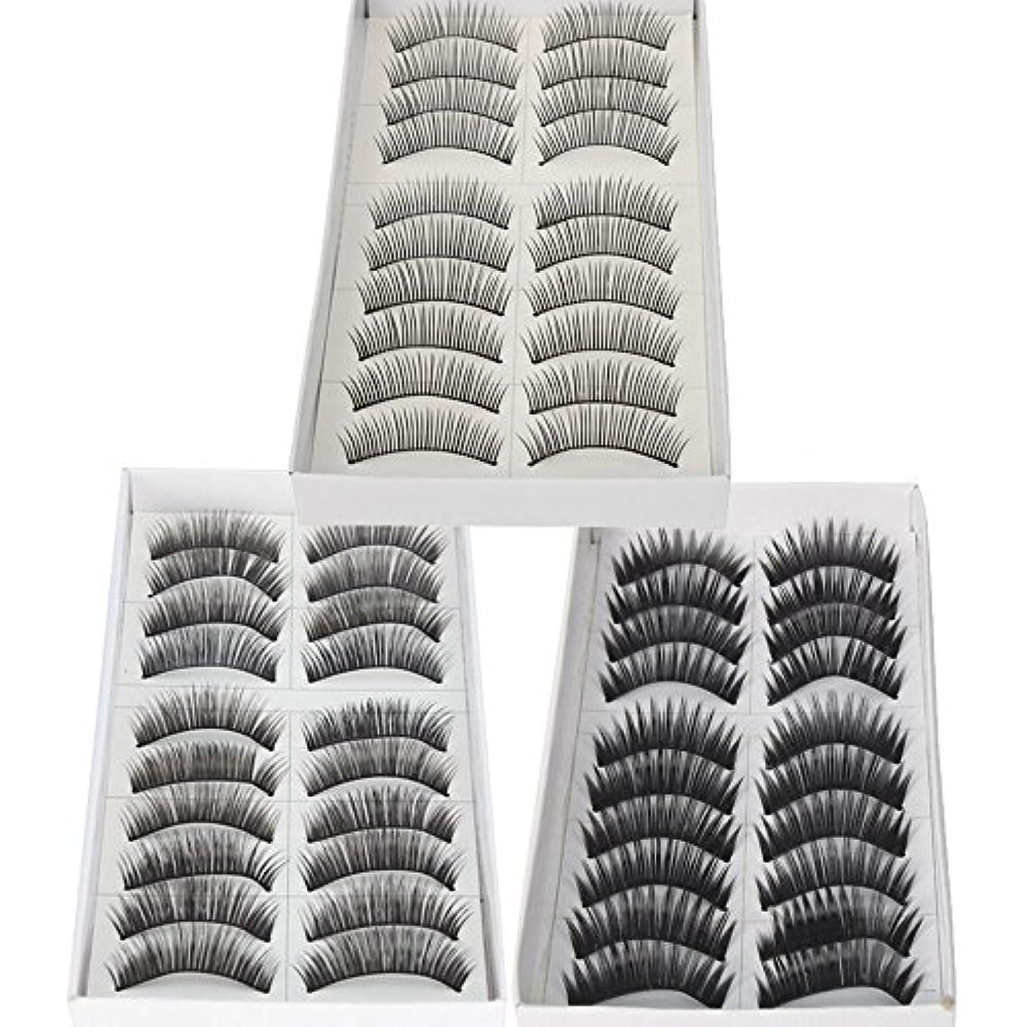 バックアップ農奴針30 Pairs of Natural & Regular Long False Eyelashes Eye Lashes