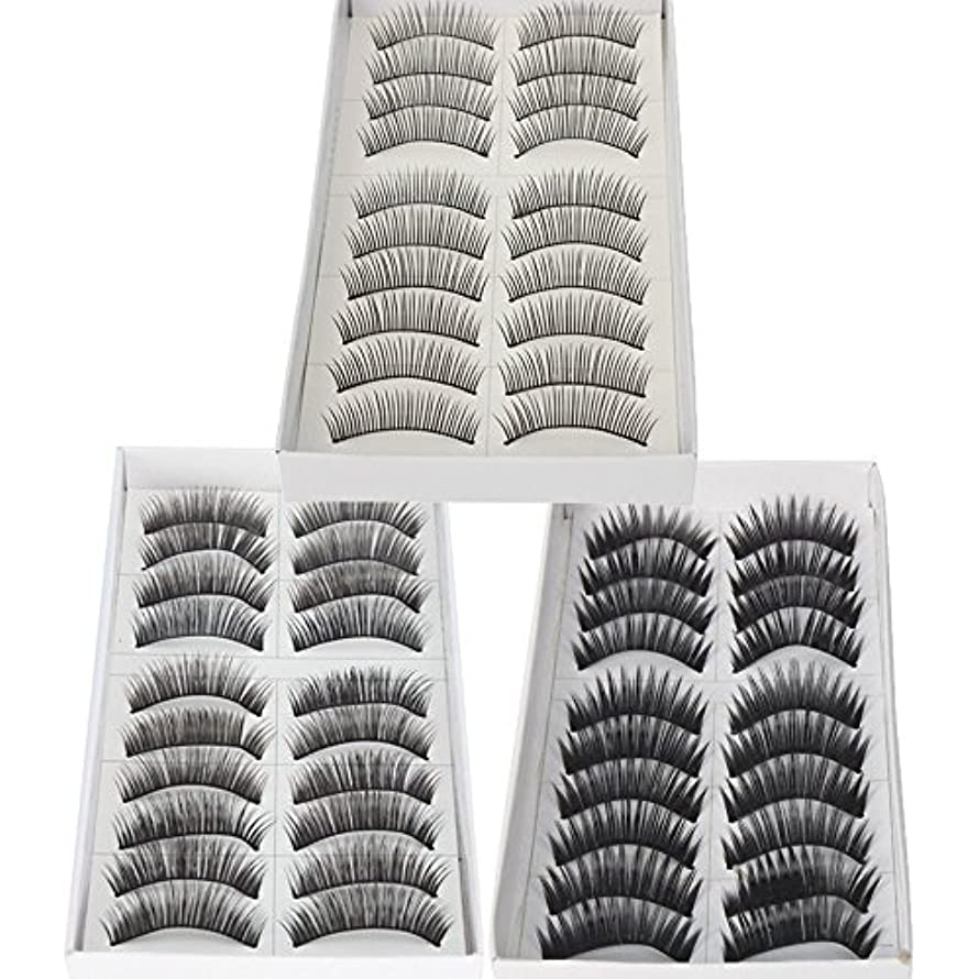 うつ引数直感30 Pairs of Natural & Regular Long False Eyelashes Eye Lashes