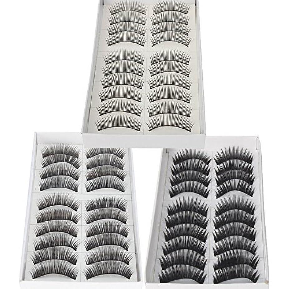 ジェーンオースティン宣言バイオリニスト30 Pairs of Natural & Regular Long False Eyelashes Eye Lashes