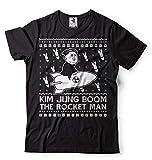 Silk Road Tees メンズ ロケットマンおかしいTシャツ醜いセータースタイルTシャツ北朝鮮おかしい政治キム・ブームのTシャツ