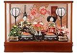 藤秀 雛人形 ひな人形 ケース 入り 親王飾り 茶 h283-ts-a8-br