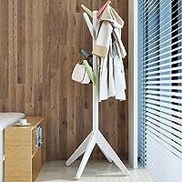 シンプルでモダンなシンプルな吊り服ラックコートラックフロアソリッドウッドクリエイティブハンガーフロアベッドルームハンガー (色 : D)