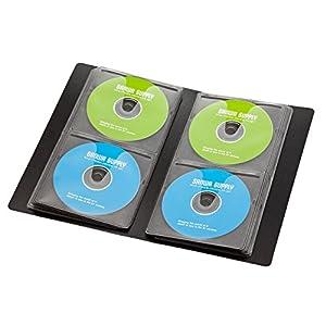 サンワサプライ 64枚収納 Blu-rayディスク対応ファイルケース ブラック FCD-FLBD64BK