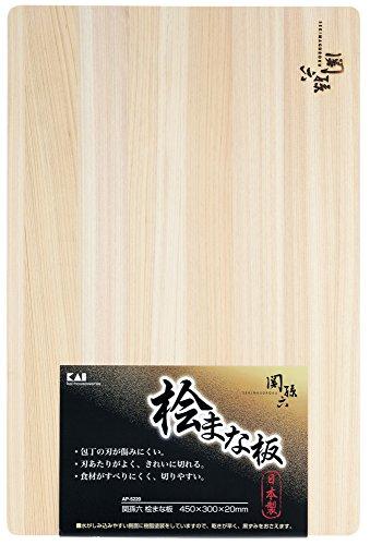 貝印 kai 関孫六 桧 まな板 450×300mm AP-5220