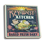 キーWest , Florida – Key Lime Pie Vintage Sign 4 Coaster Set LANT-33628-CT