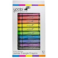 Yoobi Jumbo Triangle Crayons Pack of 12 [並行輸入品]