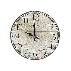 パール金属 卓上 ガラス 時計 置時計 掛け時計 兼用 ROUND 17cm 14S1145 N-8183