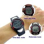(Ckeyin)脈拍計腕時計 歩数計  スポーツウォッチ 30M防水 レディース メンズ兼用(電子版日本語取説付き)