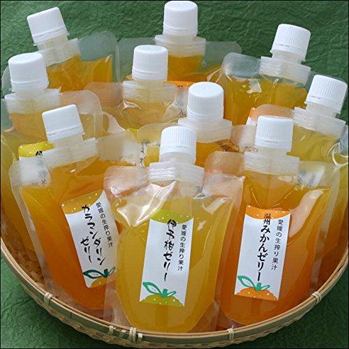 極々果実ちゅうちゅうゼリー (伊予柑、はるみ、清美、甘夏、ブラッドオレンジ、みかん、伊予柑&レモン)