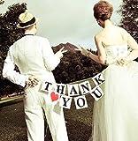 ガーランド パーティー JUST MARRIED or THANK YOU ウエディング グッズ (THANK YOU + ハート)
