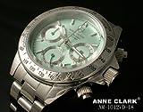 [アンクラーク]ANNE CLARK 腕時計 1P 天然 ダイヤモンド クロノグラフ レディースウォッチ マリーンブルー AM-1012VD-18 レディース