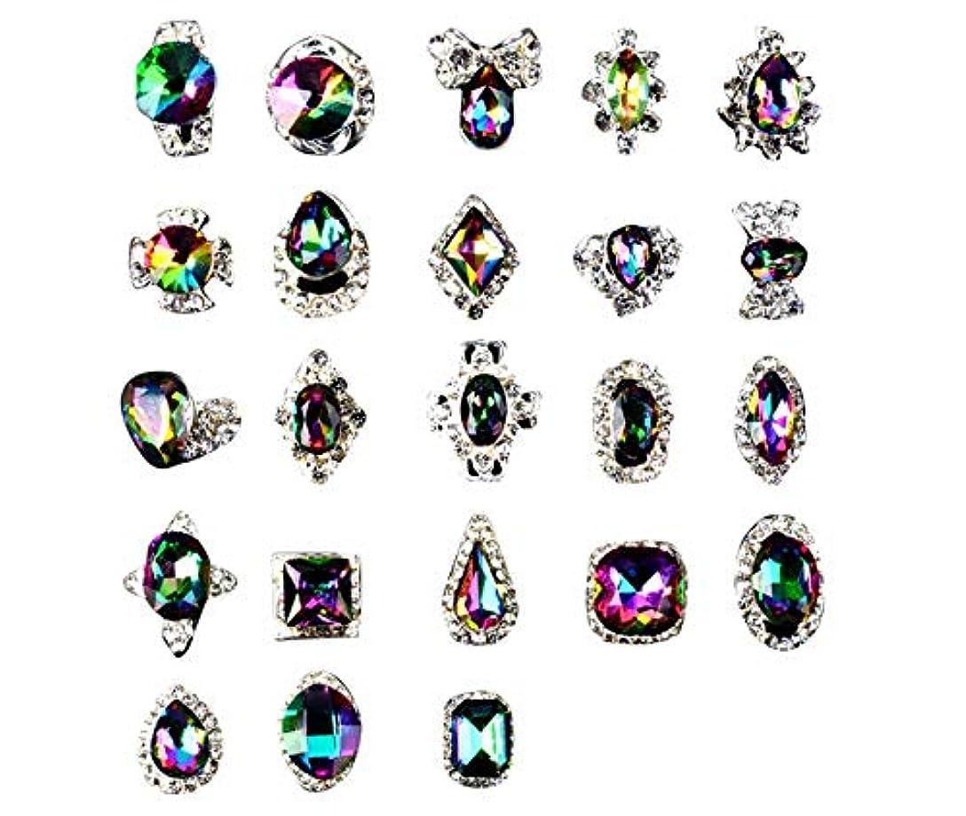木製きらきらトンネルTianmey ラインストーンクリスタルガラス、金属宝石ストーンズマニキュアネイルアートデコレーショングリッターチャーミング3D DIYネイルアートのヒント