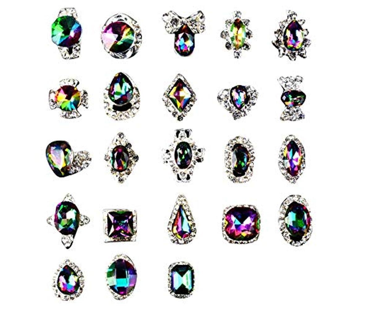 消費する腹水Tianmey ラインストーンクリスタルガラス、金属宝石ストーンズマニキュアネイルアートデコレーショングリッターチャーミング3D DIYネイルアートのヒント