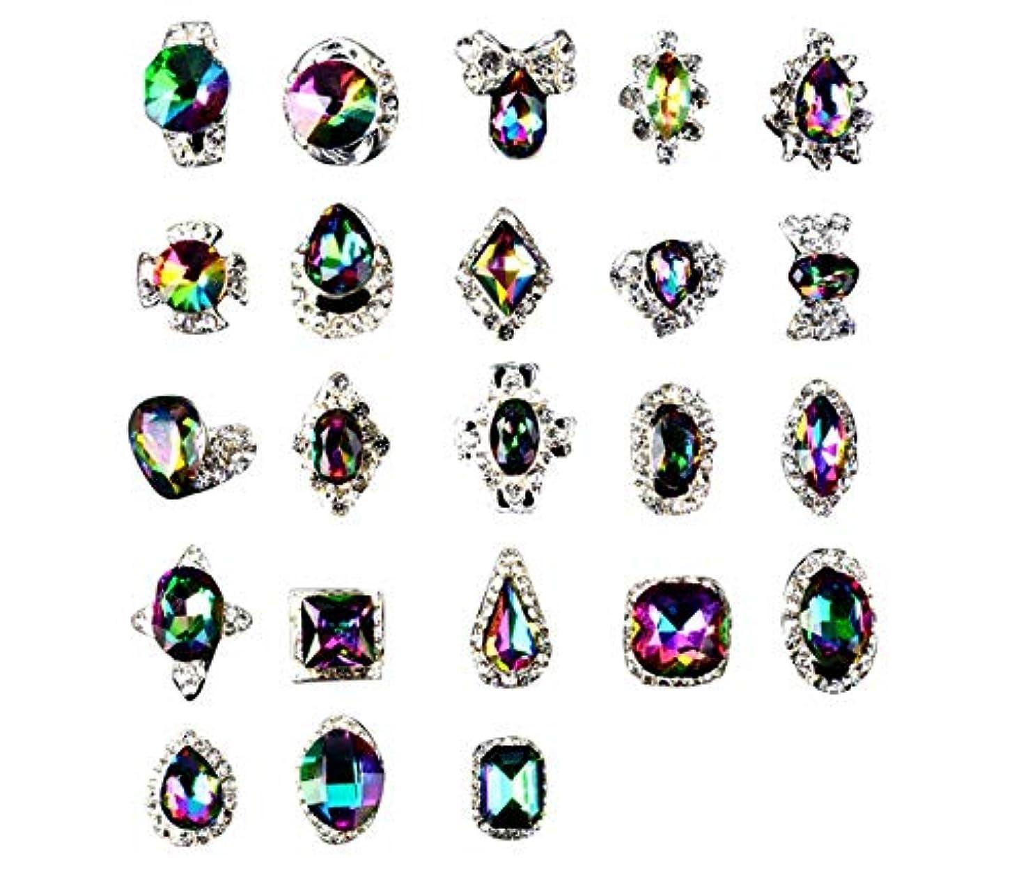 ためらうピンクさまようTianmey ラインストーンクリスタルガラス、金属宝石ストーンズマニキュアネイルアートデコレーショングリッターチャーミング3D DIYネイルアートのヒント
